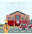 Fire Station Banner vector image vector image