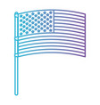 flag united states of america in pole flat design vector image vector image