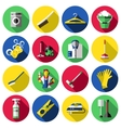 Flat Cleaning Icon Set vector image vector image