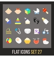 Flat icons set 27 vector image vector image