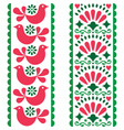 folk art seamless pattern - mexican style long vector image vector image