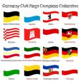 germany civil flags vector image vector image
