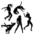 Girl dancer athletic club clubbers clubbing vector image vector image