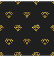 Glitter gold diamonds seamless background vector image vector image