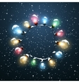 Glowing Lights of Electric Wreath vector image vector image
