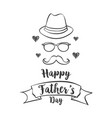 happy father day celebration style vector image vector image
