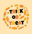 happy halloween sweet candy vector image vector image