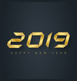 happy new year 2019 - elegant greeting card vector image