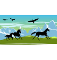 Horses Background vector image vector image