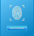identification fingerprint verification poster vector image vector image