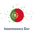 independence day of portugal patriotic banner vector image