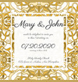 invitation card template with openwork pattern vector image vector image