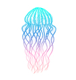 Jellyfish in line art style Ocean elements vector image vector image