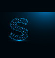 letter s low poly design alphabet abstract vector image vector image