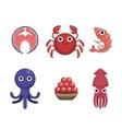 Market Sold Seafood Set vector image vector image