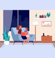 mother reading book mom read bedtime story to her vector image