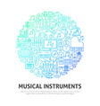 musical instruments circle concept vector image