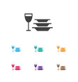 of cook symbol on dishes icon vector image vector image