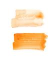orange brush stroke watercolor vector image vector image