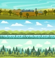 parallax landscape cartoon seamless backgrounds vector image