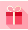 Pink present box vector image vector image