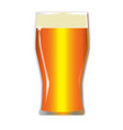 pint lager glass vector image vector image