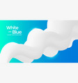 red and blue fluid wave duotone compositions vector image