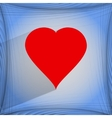 red heart web icon on a flat geometric abstract vector image vector image
