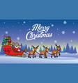santa riding snow sleigh vector image vector image