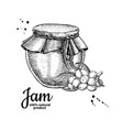 sea buckthorn jam glass jar drawing frui vector image vector image