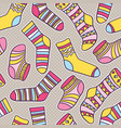 seamless abstract pattern with socks vector image