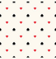 seamless geometric pattern with house icons vector image vector image