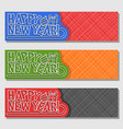 set banners for new year vector image vector image