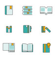 set books icon vector image vector image