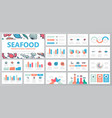 set of fish and sea food elements for multipurpose vector image vector image