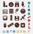 Set of hosting icons vector image