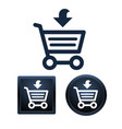 shopping icon set isolated vector image vector image