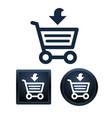 shopping icon set isolated vector image