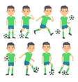 Soccer football players playing ball set of vector image vector image