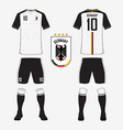 Soccer kit or football jersey template for Germany vector image vector image