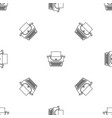 soviet typewriter icon outline style vector image vector image