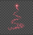 stylized red christmas tree as symbol happy new vector image vector image