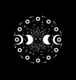 triple moon pagan wiccan goddess sun system vector image