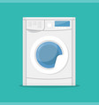 washing machine isolated on a blue background vector image
