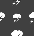 Weather icon sign Seamless pattern on a gray vector image vector image