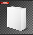 white product package box isolated on vector image vector image