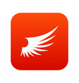wing icon digital red vector image vector image