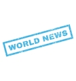 World News Rubber Stamp vector image vector image