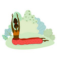 yoga girl set vector image