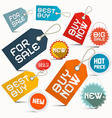Paper Business Labels Set Isolated on White vector image